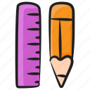 designing tools, geometry tools, graphic tools, office supplies, pencil, ruler, stationery