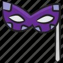blindfold, carnival mask, eye mask, masquerade, party mask icon