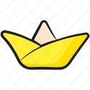 boat art, origami, origami boat, paper art, paper boat