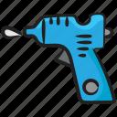 adhesive gun, glue, glue gun, hot glue, hot gun, stationery glue