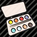 color paints, color palette, paint bold, paint palette, painting, painting tool, watercolors