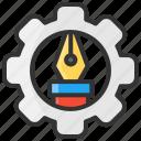 art, configuration, design, pen, setting icon