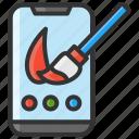 art, color, design, paint, smartphone icon