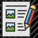 art, design, multimedia, storyboard, writing icon