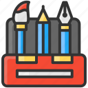 art, brush, design, pen, pencil, toolbox icon