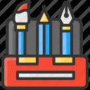 art, brush, design, pen, pencil, toolbox