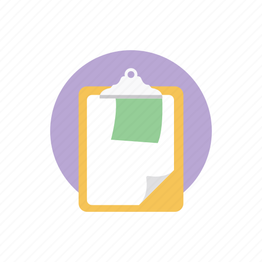 checklist, clipboard, content, paper, writing board icon