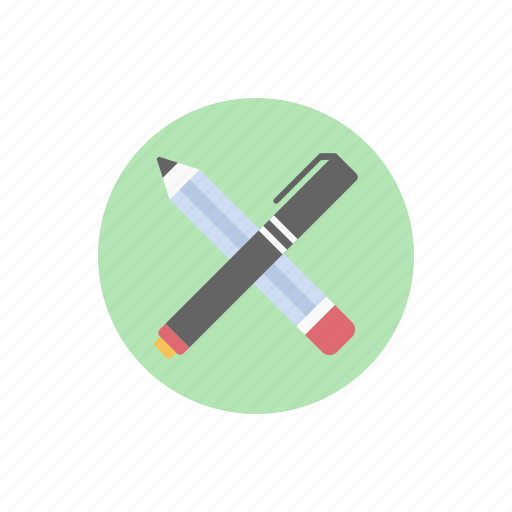 editing, office supply, pen pencil, stationery, writing symbol icon