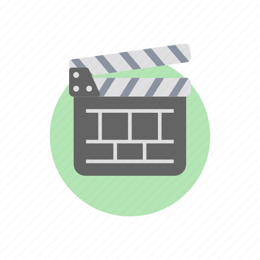 clapperboard, clapstick, filmmaking, movie board, movie clapper, sync slate, video production icon