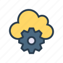 cloud, configure, preference, setting, storage icon
