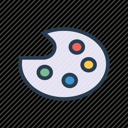 Art Color Design Paint Palette Icon