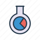 chart, flask, graph, lab, statistic icon
