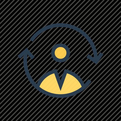 account, avatar, profile, reload, user icon