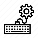 cogwheel, computer, creative, keyboard, setting icon