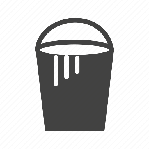 box, bucket, container, cream, paint, plastic icon