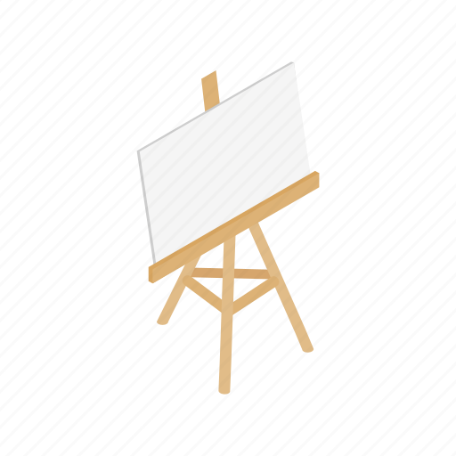 Blank, blog, board, easel, isometric, paper, stand icon - Download on Iconfinder