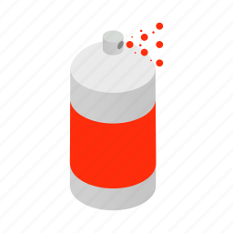 aerosol, blog, bottle, container, isometric, paint, spray icon