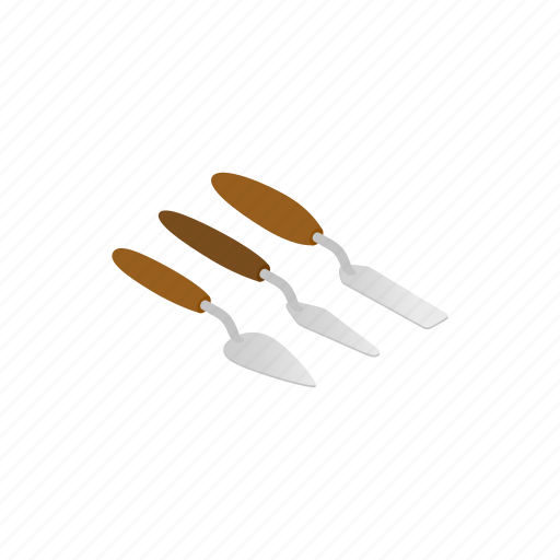blog, handle, isometric, painting, spatulas, tool, work icon