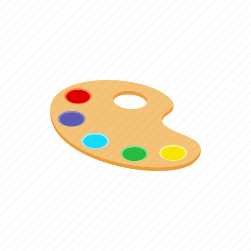 art, blog, drawing, isometric, painter, palette, tool icon