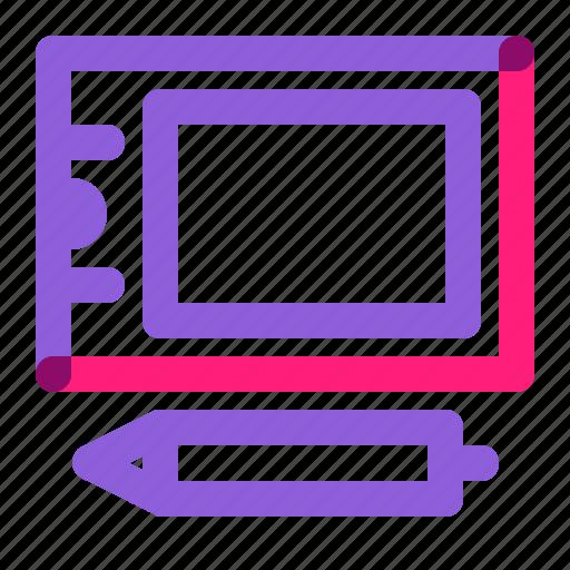 art, bamboo, digital, equipment, intuos, school, tablet icon