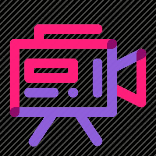 art, equipment, recorder, school, video icon