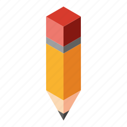 art, desing, isometry, paint, pencil icon