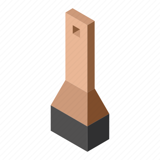 brush, gross brush, isometry icon