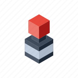 balck in, ink, isometry icon