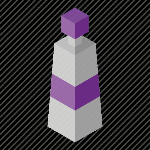 acrylic, isometry, purple icon