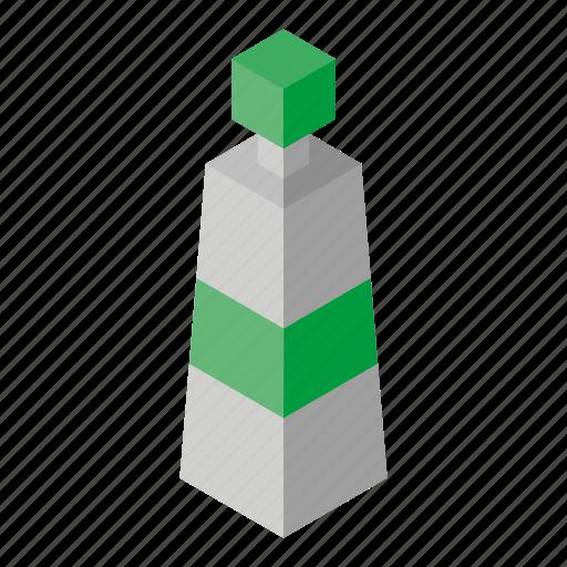 acrylic, green, isometry icon