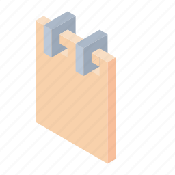 isometric, notebook, notes icon