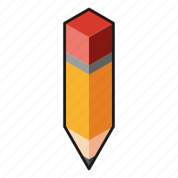 isometry, line, pencil icon