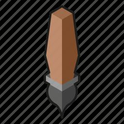 brush, isometry, thin brush icon