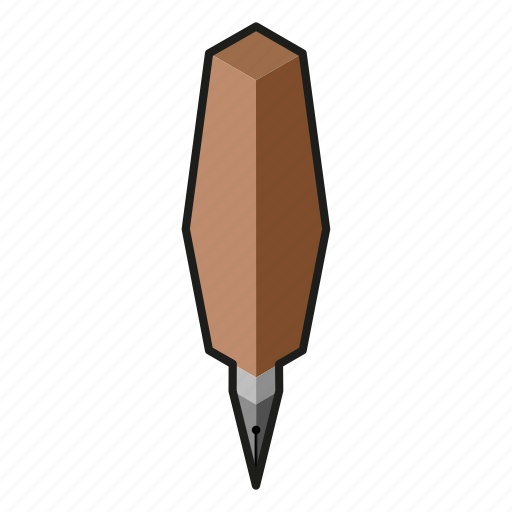 isometry, pen, pencil icon