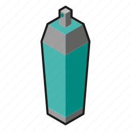 isometric, line art, paint, spray icon