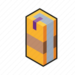 book, isometric, line art icon
