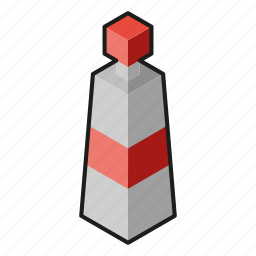 acrylic, isometric, line art, paint, red icon