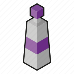 acrylic, isometric, line art, paint, purple icon
