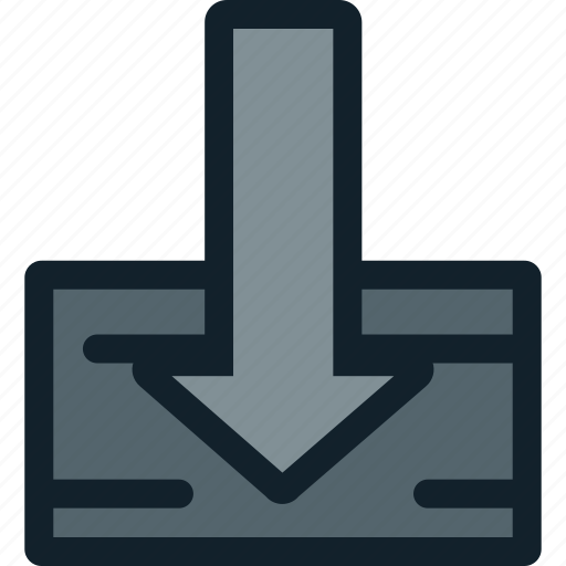 arrow, down, download, import, save icon