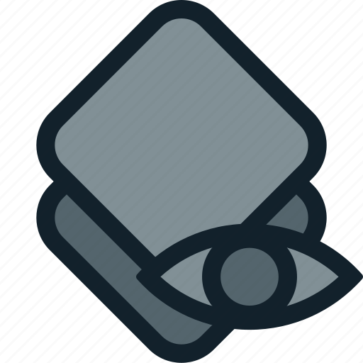 eye, layer, layers, stack, visibility, visible icon