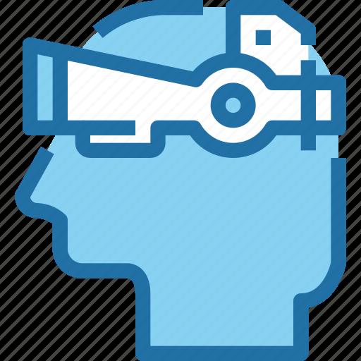 engineering, reality, robotics, technology, virtual icon