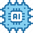artificial, engineering, intelligence, robotics, technology icon