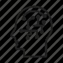 human processor, human brain, artificial intelligence, head