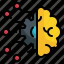 brain, gear, intelligence, artificial, setting, cog, control