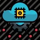 cloud, gear, intelligence, artificial, ai, storage, setting