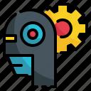 robot, gear, intelligence, artificial, setting, cog, control