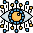 vision, eye, digital, augmented, reality, virtual, view