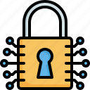 cyber, security, secure, padlock, locked, network, lock
