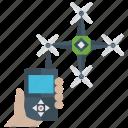drone controller, drone remote control, quadcopter, rc aerial robot, remote control, smart drone icon