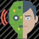 advanced technology, artificial intelligence, bionic human, humanoid, humanoid robot face, robotics